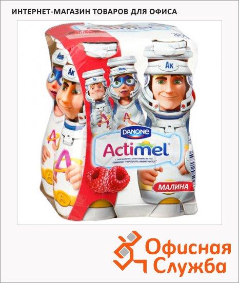 фото: Кисломолочный напиток Actimel Kids малина 2.5%, 100г х 4шт