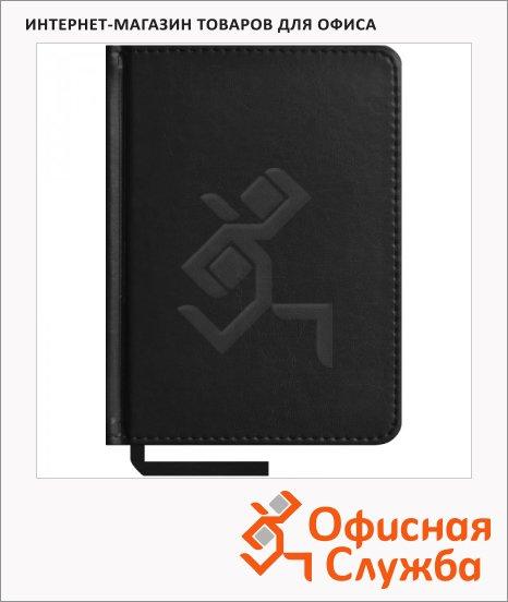 фото: Ежедневник недатированный Office Space Caprice черный А6, 160 листов, искусственная кожа