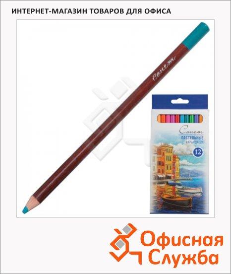фото: Набор цветных карандашей Невская Палитра 12 цветов пастельные