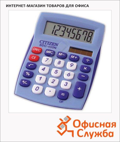 фото: Калькулятор настольный Citizen SDC-450NBLCFS синий 8 разрядов