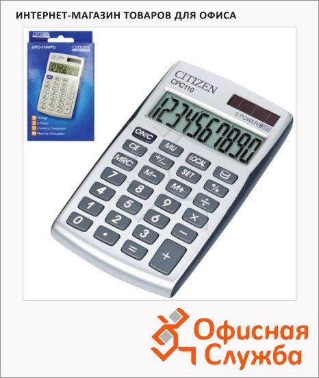 фото: Калькулятор карманный Citizen CPC-110WB серебристый 10 разрядов