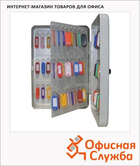 фото: Шкафчик для ключей Shuh Ru KB-70 на 70 ключей серебристый, 300х230х90мм