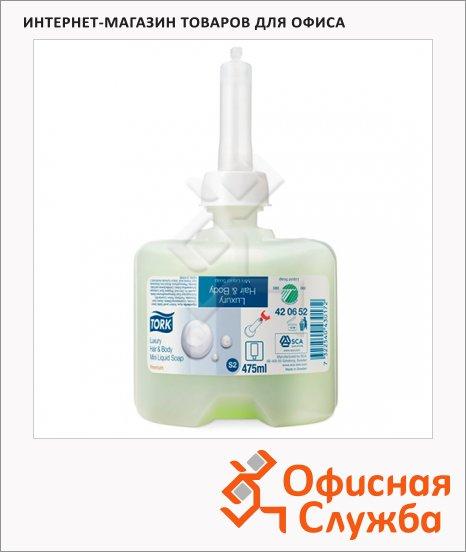 Жидкое мыло в картридже Tork Premium S2, 420652, для тела и волос, 475мл