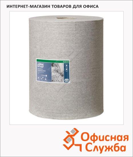 Протирочный материал Tork нетканый W1/W2/W3, 520337, в рулоне, для масла и жира, 148м, 1 слой, серый