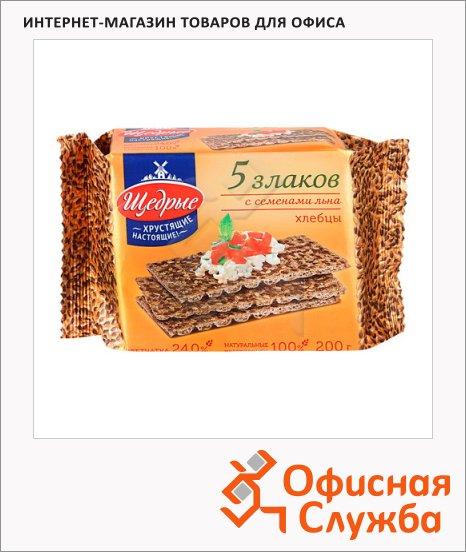 фото: Хлебцы Щедрые тонкие 5 злаков 200г, с семенами льна