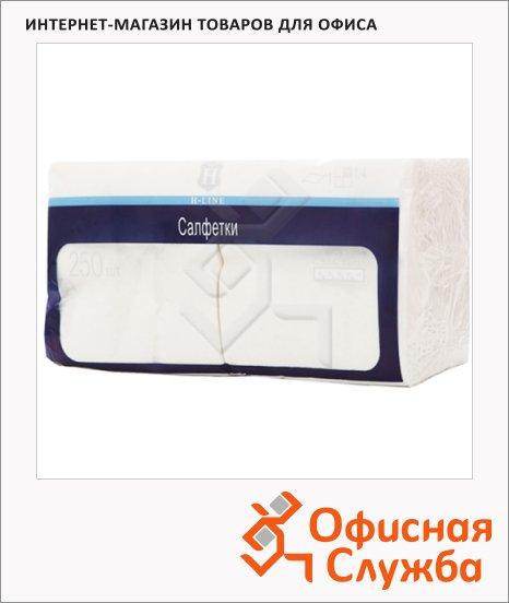 Салфетки сервировочные H-Line белые, 24х24см, 1 слой, 250шт