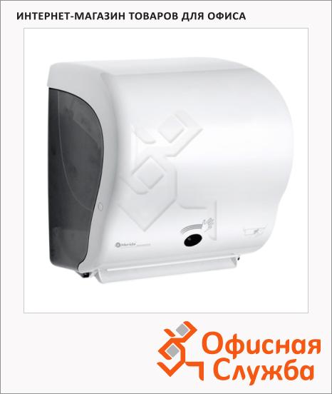 фото: Диспенсер для полотенец листовых Merida Automatic Lux Cut Maxi CJB502 белый