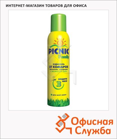 фото: Средство от насекомых Picnic Family 150мл с экстрактом алоэ, аэрозоль, от комаров