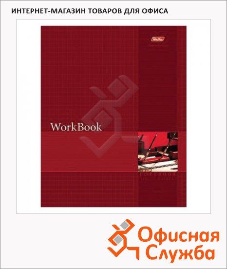 фото: Тетрадь общая Hatber WorkBook красная А5, 96 листов, в клетку, на сшивке/склейке, мелованный картон