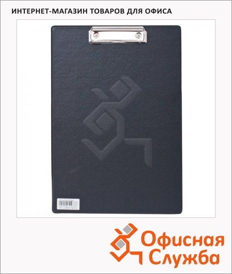 фото: Клипборд без крышки Brauberg Comfort черный А4, 222657