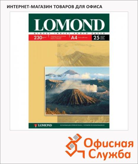фото: Фотобумага для струйных принтеров А4 230г/м2, глянцевая, 25 листов, 210 г/м2, глянцевая, односторонняя, 0102049