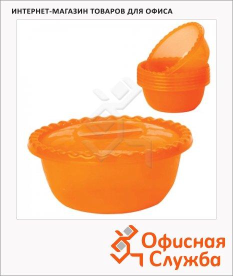 фото: Салатник Idea оранжевый 3л, 10.5х25см, + 6 салатников по 0.6л