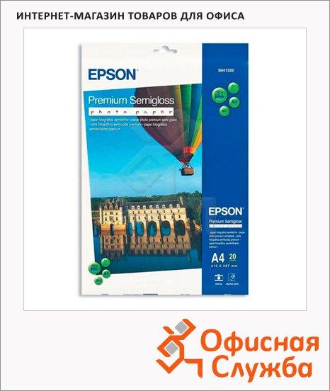 фото: Фотобумага для струйных принтеров Premium Photo А4 20 листов, 260г/м2, полуглянцевая, C13S041332