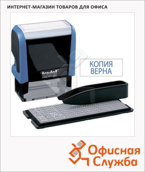 фото: Штамп прямоугольный самонаборный Trodat 3 строки 38х14мм, 1 касса, 4911/DB