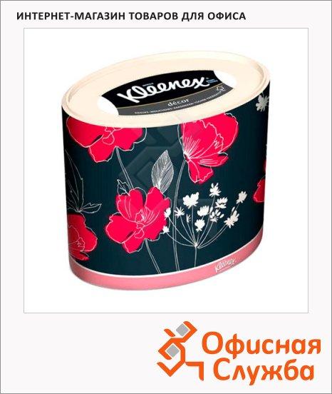 Салфетки косметические Kimberly-Clark Kleenex Dekor 64шт, 21х20см, 3 слоя, белые