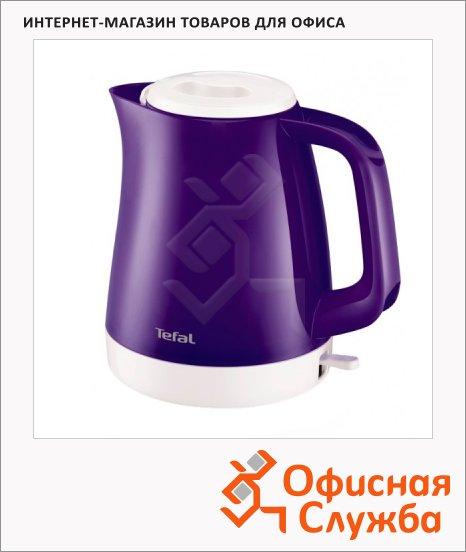 фото: Чайник электрический Tefal KO151630 фиолетовый 1.5 л, 2400 Вт