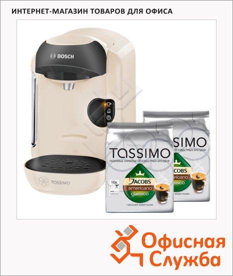 фото: Кофемашина капсульная Bosch Tassimo Vivy TAS 1254 1300 Вт, белая, капсулы в комплекте