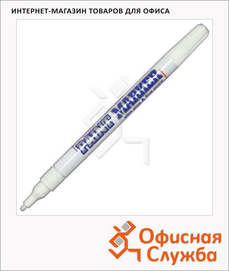фото: Маркер-краска Munhwa Slim Size белый пулевидный наконечник, нитро-основа, 2 мм
