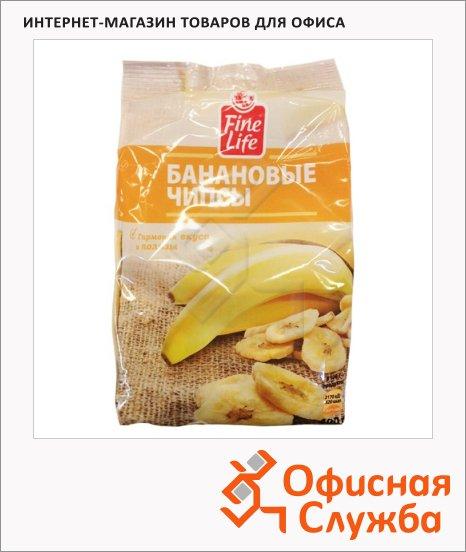 фото: Банан Fine Life сушеный, чипсы 400г
