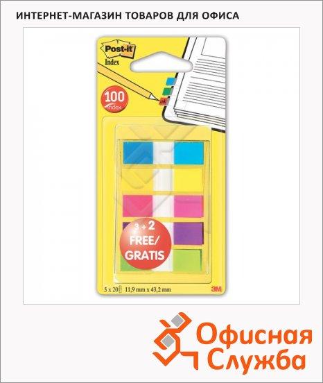 фото: Клейкие закладки пластиковые Professional 12мм 5 цветов по 20 листов
