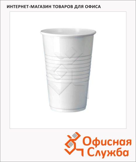 Стакан одноразовый Интеко 200мл, белый пластиковый, 200шт/уп