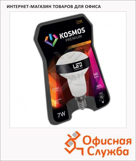 фото: Лампа светодиодная Космос Premium 7Вт Е14, теплый белый свет, рефлектор