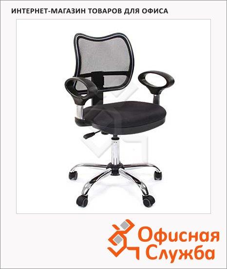 фото: Кресло офисное Chairman 450 ткань крестовина хром, черная, СТ TW-11/TW-01