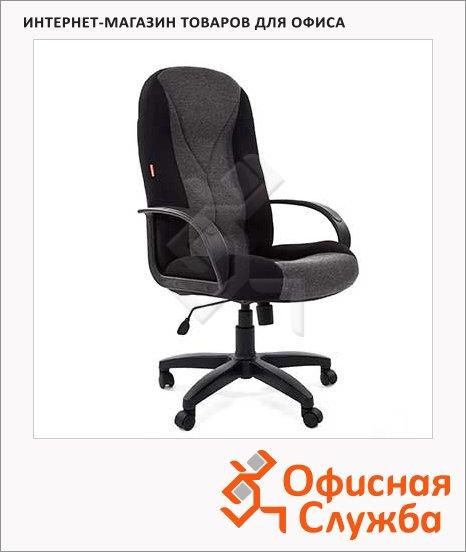 фото: Кресло руководителя Chairman 785 ткань TW-11 черная, крестовина пластик, TW-12 серая