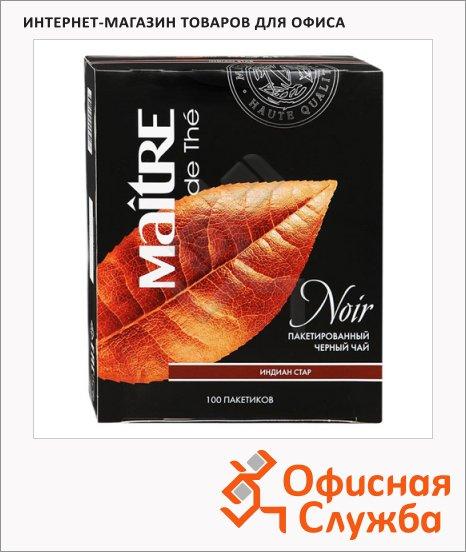 фото: Чай Maitre De The Индиан стар черный, 100 пакетиков