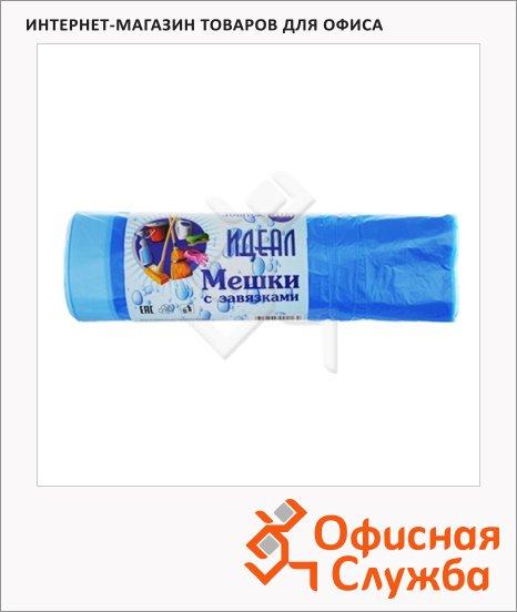 фото: Мешки для мусора Артпласт Идеал 30л 11мкм, голубые с завязками, 30шт/уп
