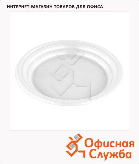 фото: Тарелка одноразовая Стиролпласт белая d=16.5см, 100шт/уп