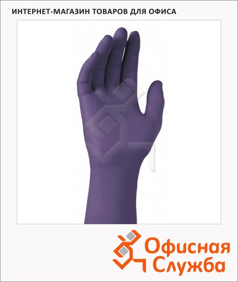 фото: Перчатки нитриловые Kimberly-Clark Kimtech Science Purple Nitrile Xtra 97611 фиолетовые, 50 шт, нитриловые, S, 25 пар