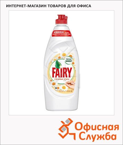 фото: Средство для мытья посуды Fairy Нежные руки 650мл гель, ромашка/ витамин E, пена-эффект