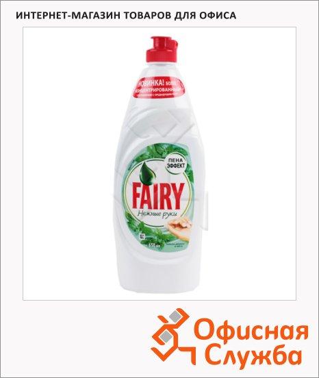 фото: Средство для мытья посуды Fairy Нежные руки 650мл гель, чайное дерево/ мята, пена-эффект