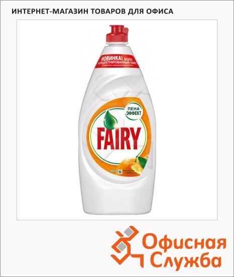 фото: Средство для мытья посуды Fairy 900мл гель, апельсин/ лимонник, пена-эффект