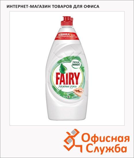 фото: Средство для мытья посуды Fairy Нежные руки 900мл гель, чайное дерево/ мята, пена-эффект