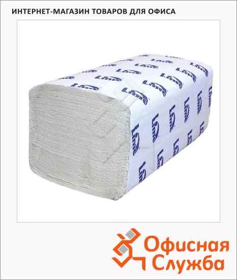 фото: Бумажные полотенца Lime эконом листовые светло-серые, Z укладка, 180шт, 2 слоя, 240180