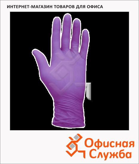 фото: Перчатки нитриловые Safe&care LN310 размер M фиолетовые, пара, (50 пар в упаковке)