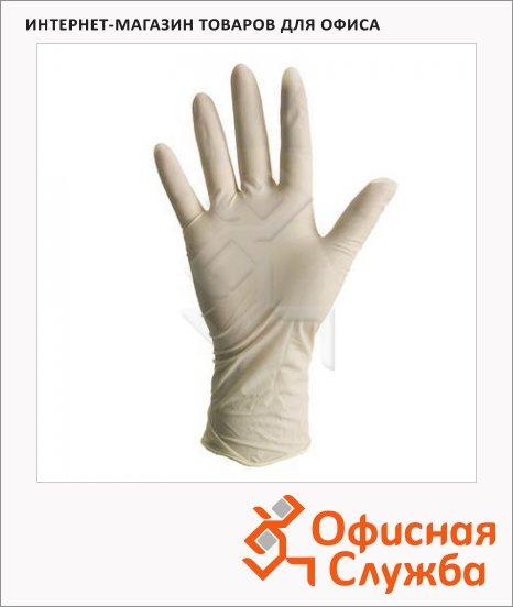 фото: Перчатки латексные Safe&care 13г р. S опудренные, белые, 50 пар
