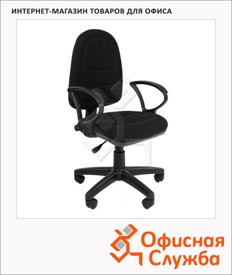 фото: Кресло офисное Chairman Prestige Ergo ткань крестовина пластик, черная, С-3