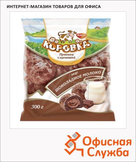 фото: Пряники Рот Фронт Коровка с начинкой 300г, шоколадное молоко