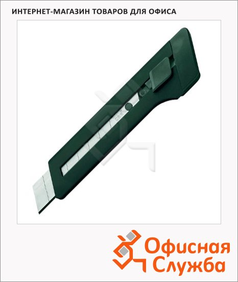 фото: Нож канцелярский Edding Е-M18 18 мм черный