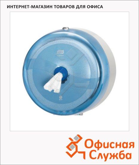 фото: Диспенсер для туалетной бумаги в рулонах Wave 472024 синий, 27х17.3х27см, с центральной вытяжкой
