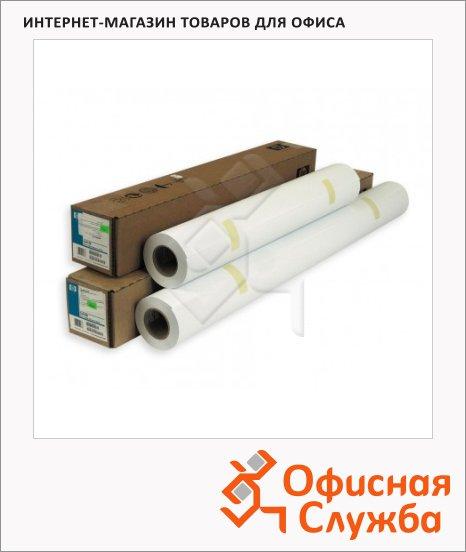 Бумага широкоформатная Hp Bright White Inkjet Paper 610мм х 45 м, 90г/м2, белизна 166%CIE, C6035A