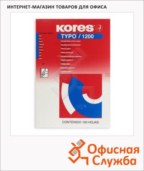 фото: Бумага копировальная Kores А4 100 листов, синяя