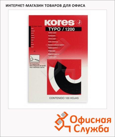 Бумага копировальная Kores А4, 100 листов, черная