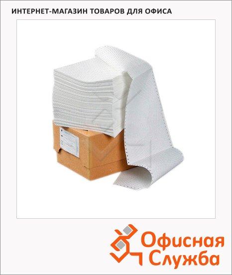 фото: Перфорированная бумага Mega Office Стандарт 240х305мм белизна 90%CIE, с неотрывной перфорацией, 2000шт