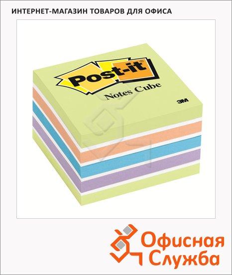 Блок для записей с клейким краем Post-It Classic 6 цветов, неон, 76х76мм, 450 листов, 2030-U