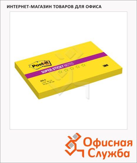 ���� ��� ������� � ������� ����� Post-It Super Sticky ������ ����, ����, 76x127��, 90 ������, 655-S