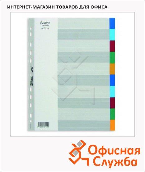 Цветовой разделитель листов Bantex 10 разделов, А4